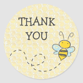 Gracias manosean al pegatina de la abeja