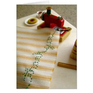 Gracias máquina de coser tarjeta de felicitación