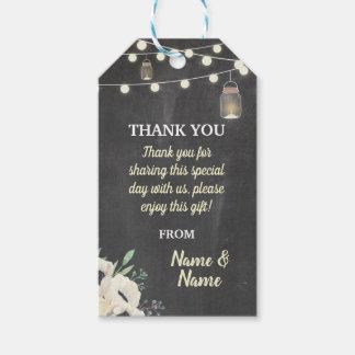 Gracias marcar el boda de la tiza con etiqueta de