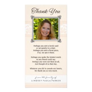 Gracias melocotón conmemorativo y la tarjeta