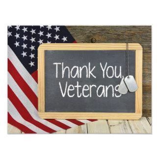 Gracias muestra de los veteranos en la pizarra fotografías