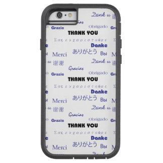 Gracias (negro y blue001) funda de iPhone 6 tough xtreme