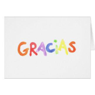 Gracias Notecard Tarjeta Pequeña