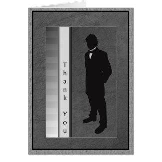 Gracias novio acompañante del boda tarjeta de felicitación