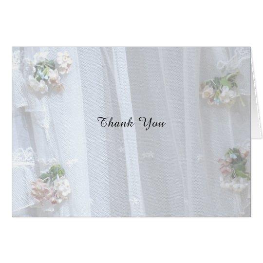 Gracias observar el boda/el aniversario, cordón tarjeta pequeña