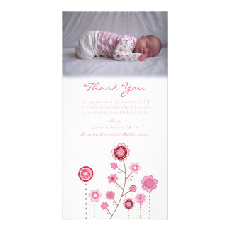 Gracias observar la plantilla de la tarjeta de la  tarjeta fotográfica personalizada