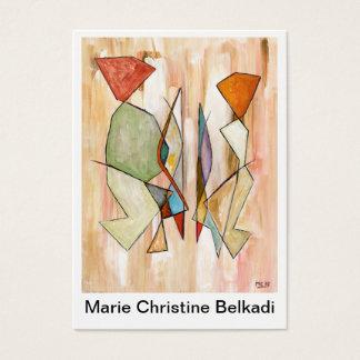 Gracias observar pares abstractos coloridos tarjeta de visita