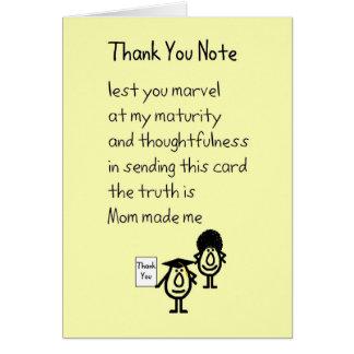 Gracias observar - un regalo de la graduación le tarjeta