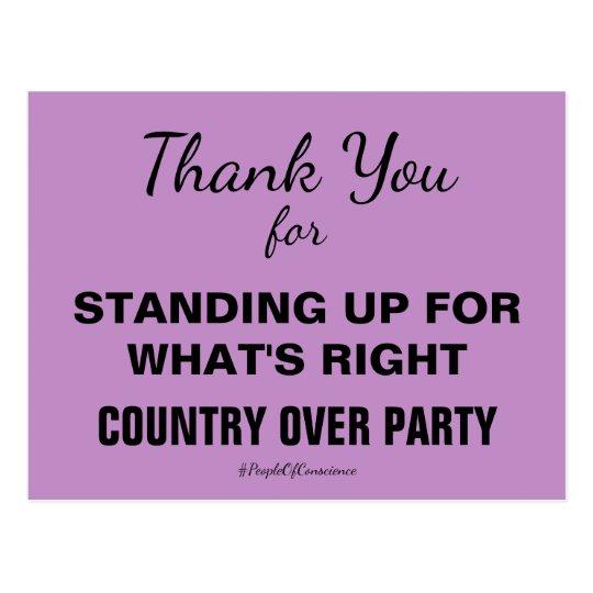 Gracias país sobre resistencia del fiesta postal