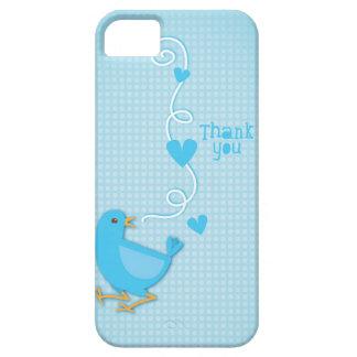 Gracias pájaro azul iPhone 5 Case-Mate protector