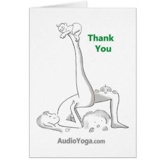 Gracias (para doblar encima al revés) tarjeta de felicitación