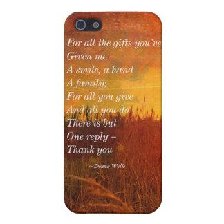 """Gracias - """"para todos los regalos que usted me ha iPhone 5 cobertura"""
