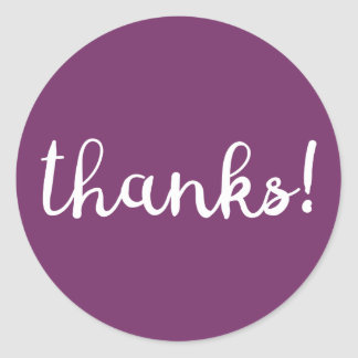 ¡Gracias! Pegatina púrpura