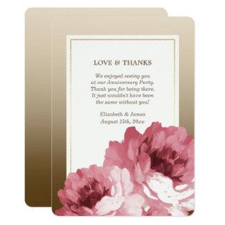 Gracias por asistir a tarjetas de la fiesta de invitación 12,7 x 17,8 cm