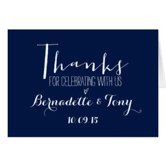 ¡Gracias por celebrar con nosotros! El casarse le Tarjeta Pequeña