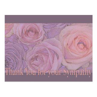 Gracias por condolencia tarjeta postal