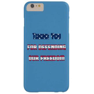 Gracias por defender nuestra libertad funda de iPhone 6 plus barely there