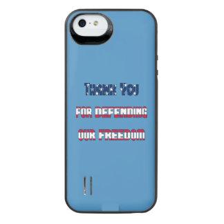 Gracias por defender nuestra libertad funda con bateía para iPhone SE/5/5s