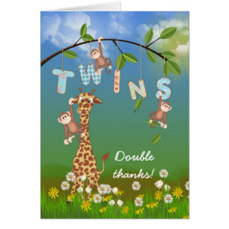 Gracias por ducha gemela tarjeta pequeña