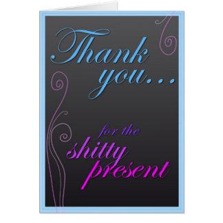 ¡Gracias por el Sh! presente del equipo Tarjeta De Felicitación