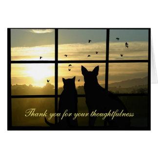 Gracias por la condolencia, tarjetas de la