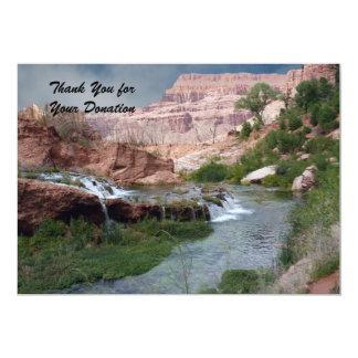 Gracias por la donación, cascadas Unspoiled Comunicado Personal
