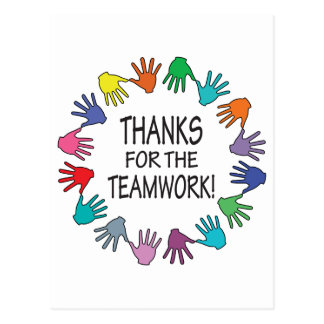Gracias por la tarjeta del aprecio del trabajo en