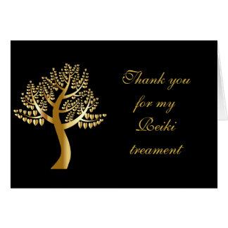 Gracias por mi tratamiento de Reiki Tarjeta