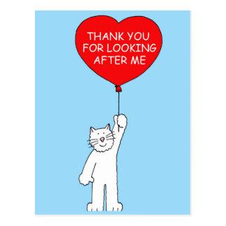 Gracias por ocuparse el gato postal