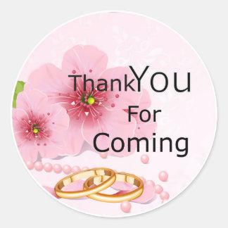 Gracias por rosa del pegatina que viene