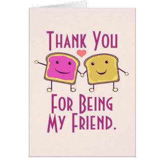 Gracias por ser mi amigo tarjeta de felicitación