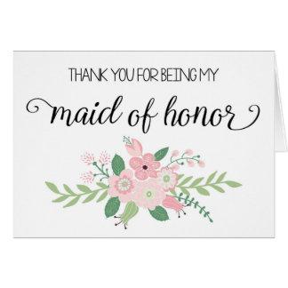 Gracias por ser mi criada de la tarjeta del honor