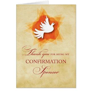 Gracias por ser mi patrocinador de la tarjeta de felicitación