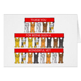 Gracias por ser un veterinario maravilloso tarjeta de felicitación