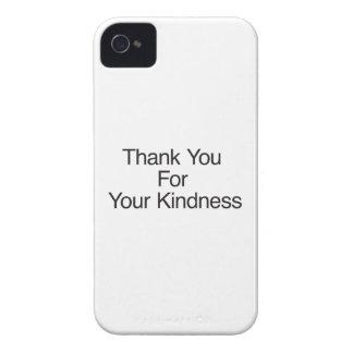 Gracias por su amabilidad iPhone 4 carcasas