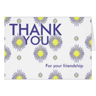 Gracias por su amistad y apoye la tarjeta