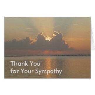 Gracias por su tarjeta de condolencia - luz en el