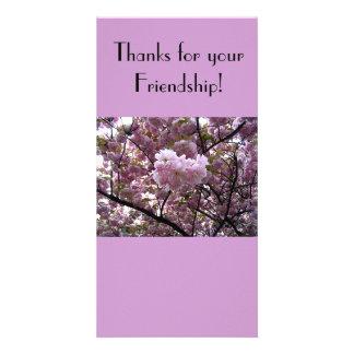 Gracias por su tarjeta de la foto de la amistad tarjeta fotografica personalizada