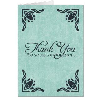 gracias por sus condolencias tarjeta pequeña