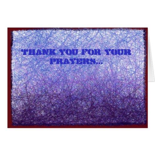 Gracias por sus rezos tarjeta