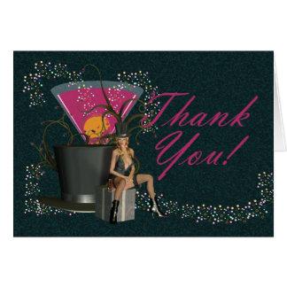 Gracias por venir a mi despedida de soltero tarjeta de felicitación