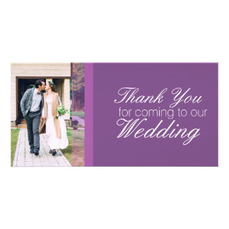 Gracias por venir a nuestro boda personalizado tarjeta