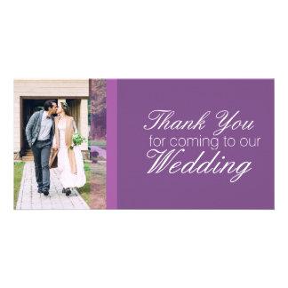 Gracias por venir a nuestro boda personalizado tarjeta con foto personalizada