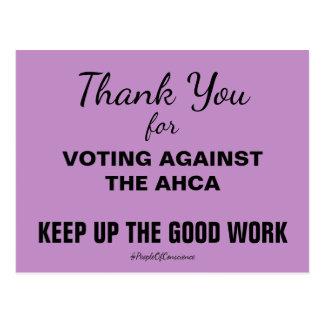 Gracias por votar contra el AHCA resisten Postal