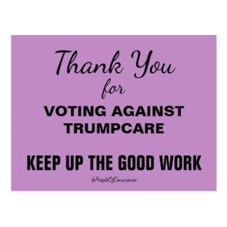 Gracias por votar contra TrumpCare resisten Postal