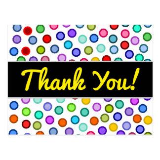 """""""Gracias!"""" + Postal colorida de muchos círculos"""