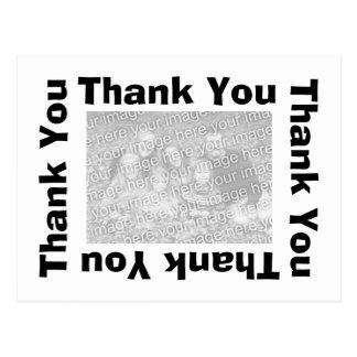 Gracias postal con la foto - blanco y negro