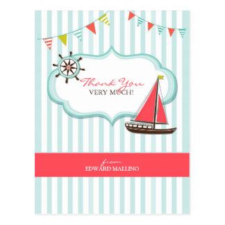 Gracias postal del cumpleaños de la navegación