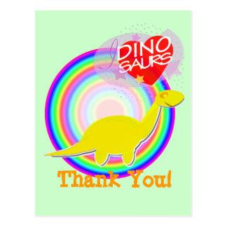 Gracias postal del dinosaurio