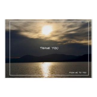 """""""Gracias"""" poster brillante de la foto del texto"""